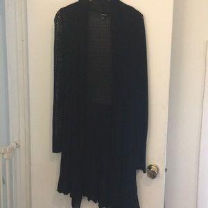Torrid Long Black Cardigan